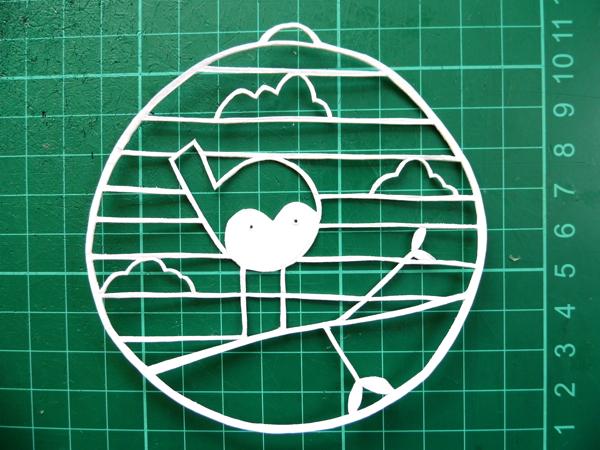 papercut bauble cutting guide