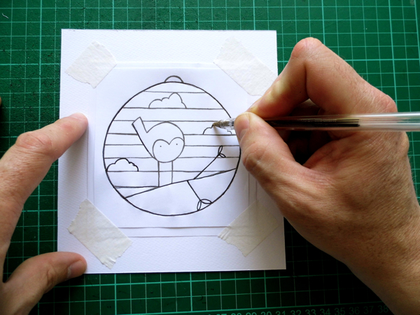papercut bauble step three
