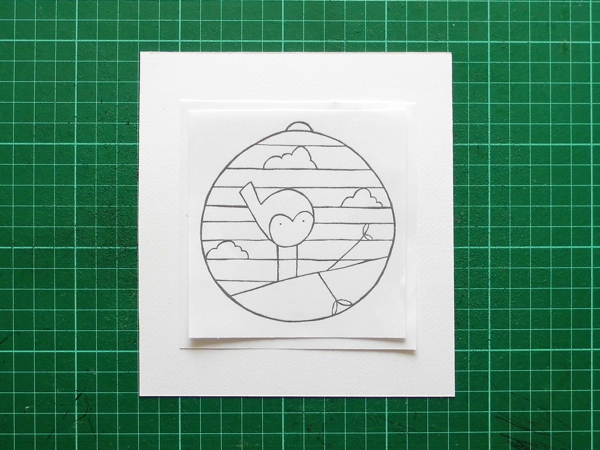 papercut baublelining up template