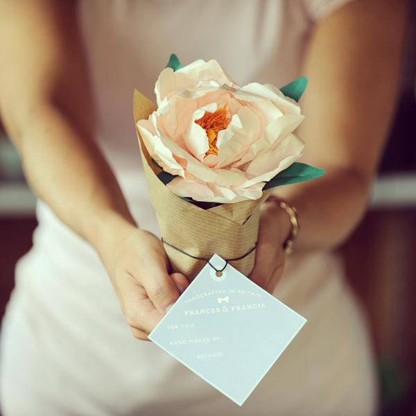 Paper flowers by Frances & Francis via Tuts+