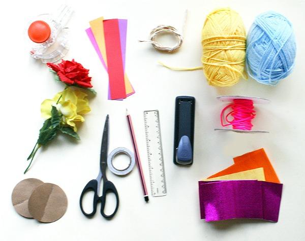 Supplies for garlands tutorial