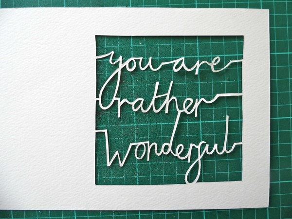 papercutting tricky letters cut out front view