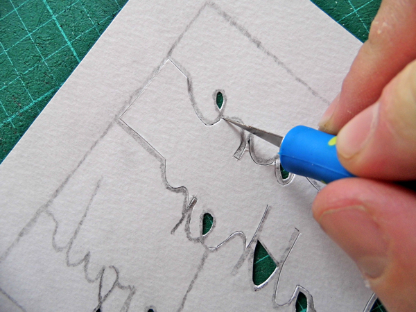 papercutting tricky letters e 1