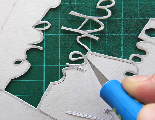 papercutting tricky letters e 5