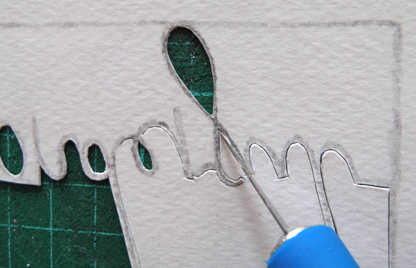 papercutting tricky letters f 1