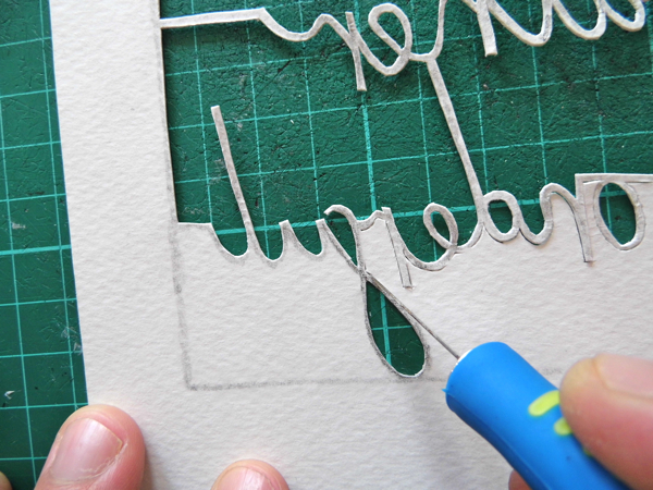 papercutting tricky letters f 2