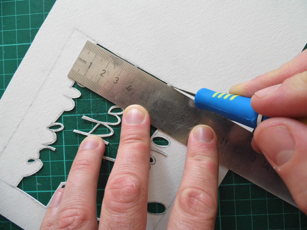 papercutting tricky letters ruler