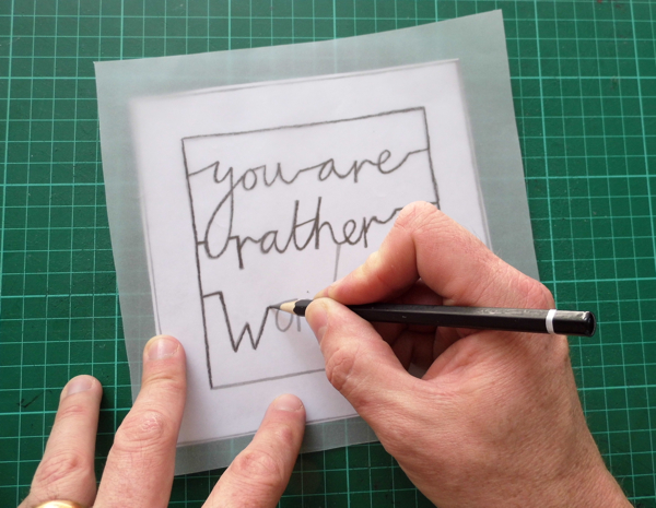 papercutting tricky letters tracing