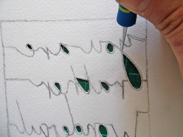 papercutting tricky letters y 1
