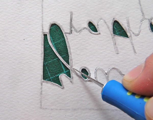 papercutting tricky letters y 2