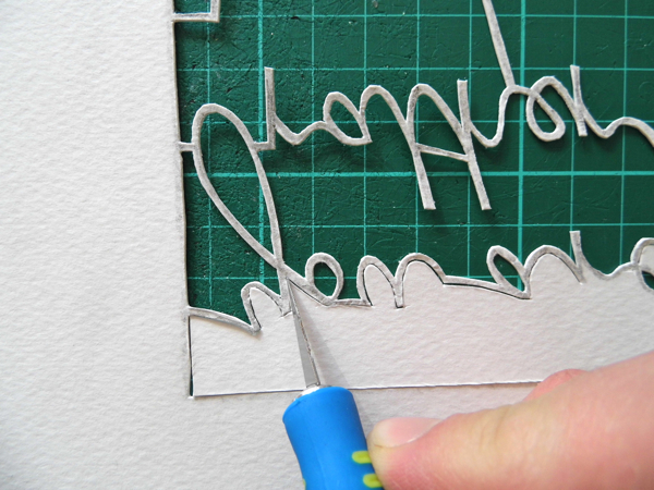 papercutting tricky letters y 4