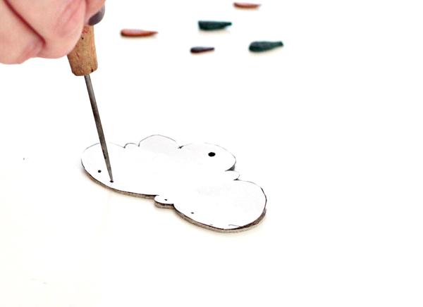 7-key chain- mark holes