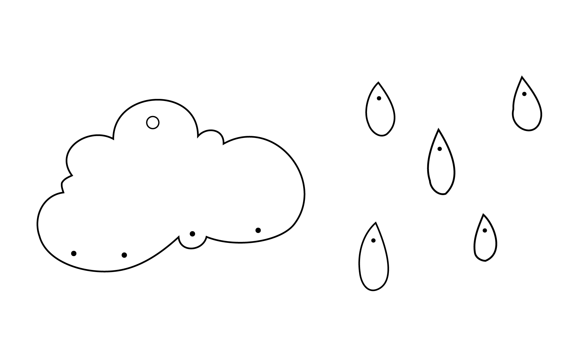 photo relating to Printable Clouds Cut Out identified as How Towards Crank out A Leather-based Rainy Cloud Most important Chain
