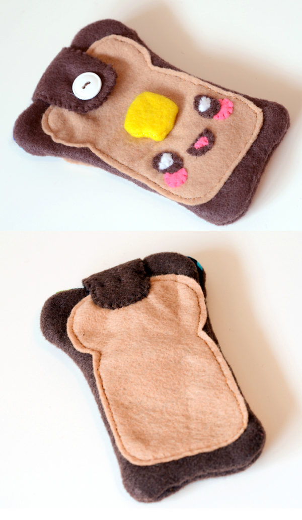Kawaii toast cozy tutorial