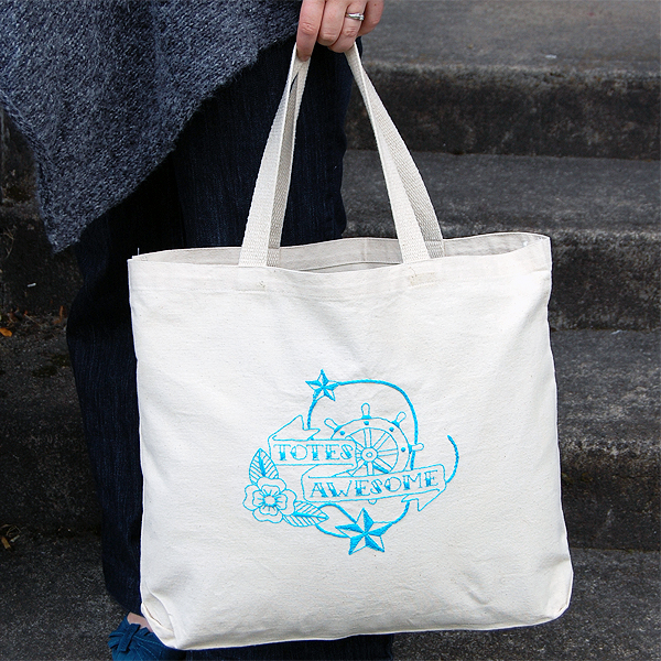 Totes Awesome Embroidery Pattern
