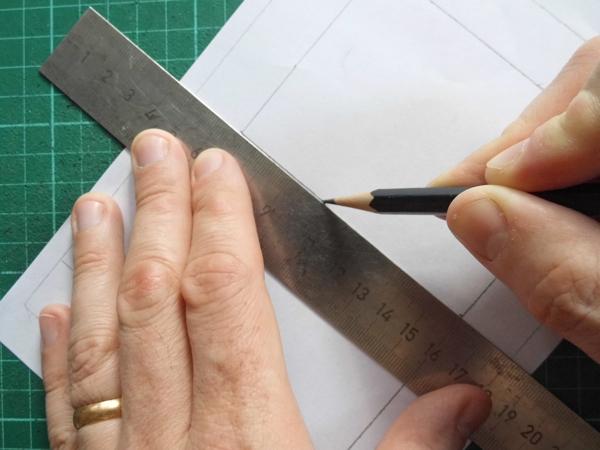 paper cut name design centre line