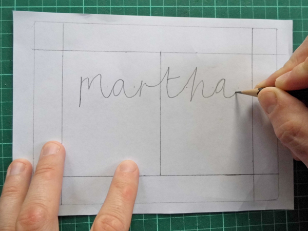 How to Make a Beautiful Papercut Bespoke Name Design – Design Paper for Writing