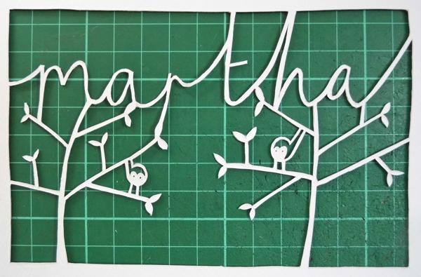 Papercut Name Design Finished