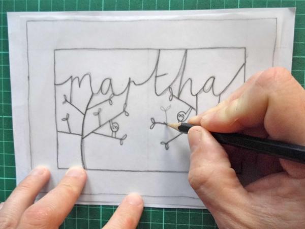 papercut name design tracing