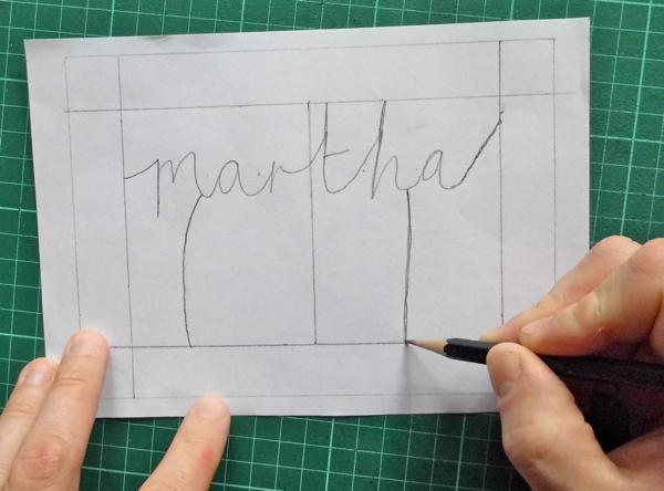 Papercut Name Design Tree Trunks
