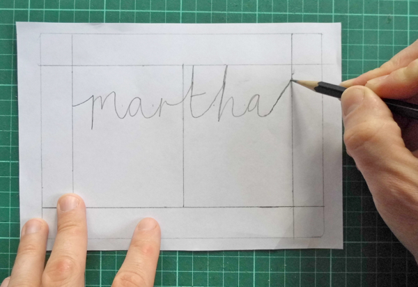 papercut name designjoining to the border