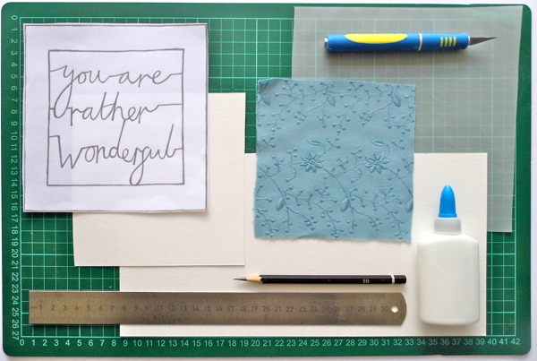 papercutting tricky letters materials