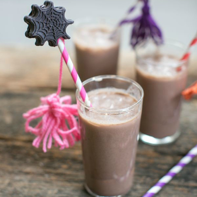 Preview for Make a Halloween Mocha Mudslide with Spider Marshmallow Straws