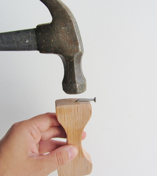 Bottler Opener Nail in Place