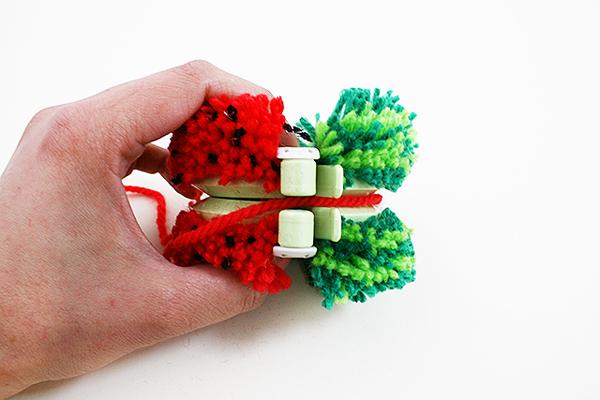Tutti Frutti Pom Pom watermelon Step 6 by Kitiya Palaskas on Crafttuts+