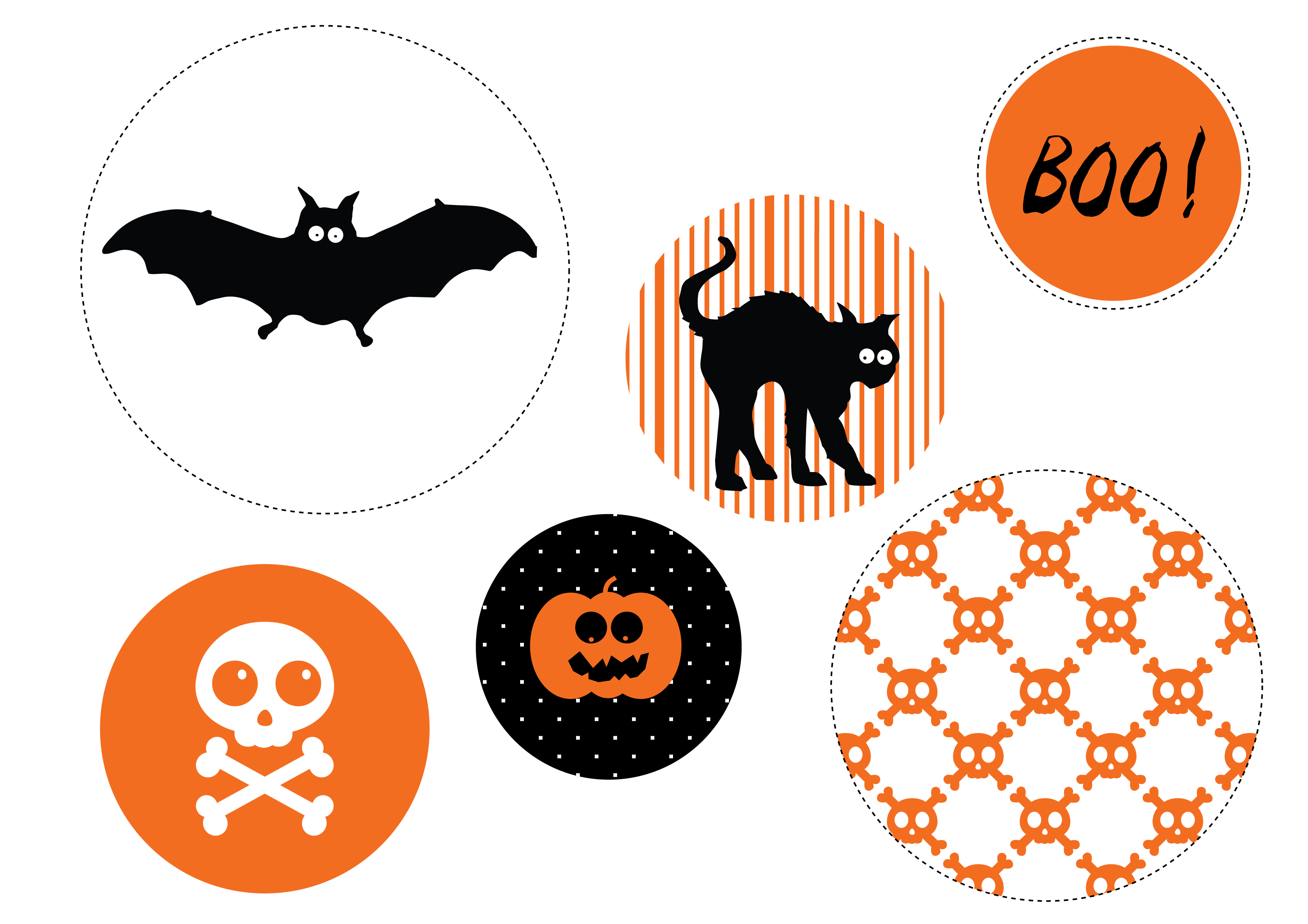 image regarding Halloween Printable Decorations titled How Towards Generate Paper Wheel Decorations For Halloween