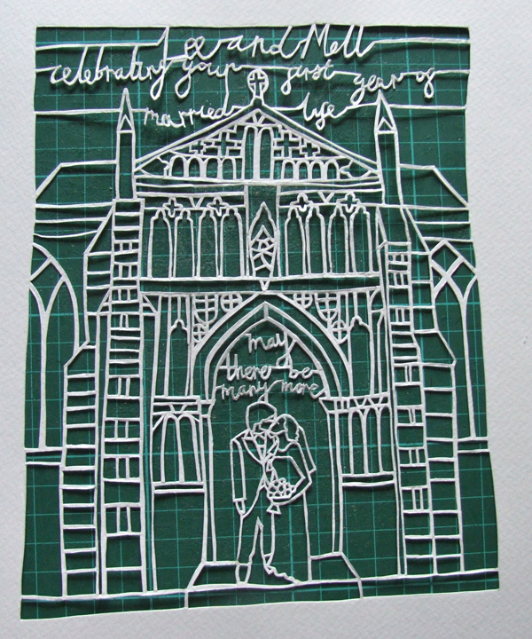 Wedding gift papercut by Robyn Owen Wilson