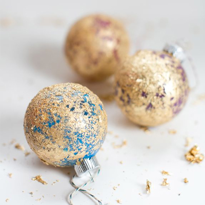 Preview for How to Make Easy Christmas Decorations with Gold Leaf