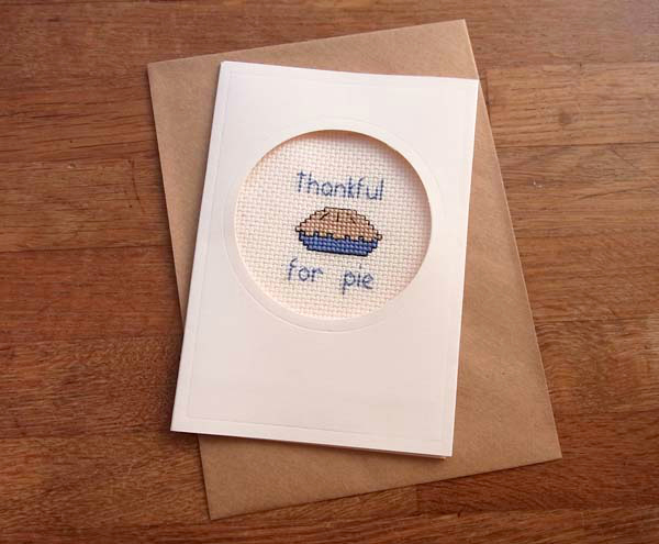 how to make a crossstitch card for thanksgiving, Greeting card