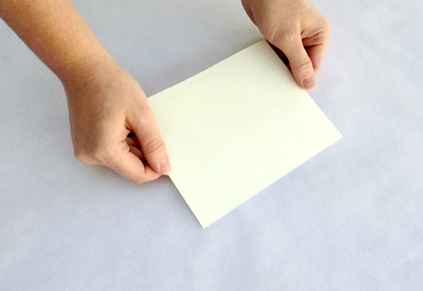 Hold your sheet of paper