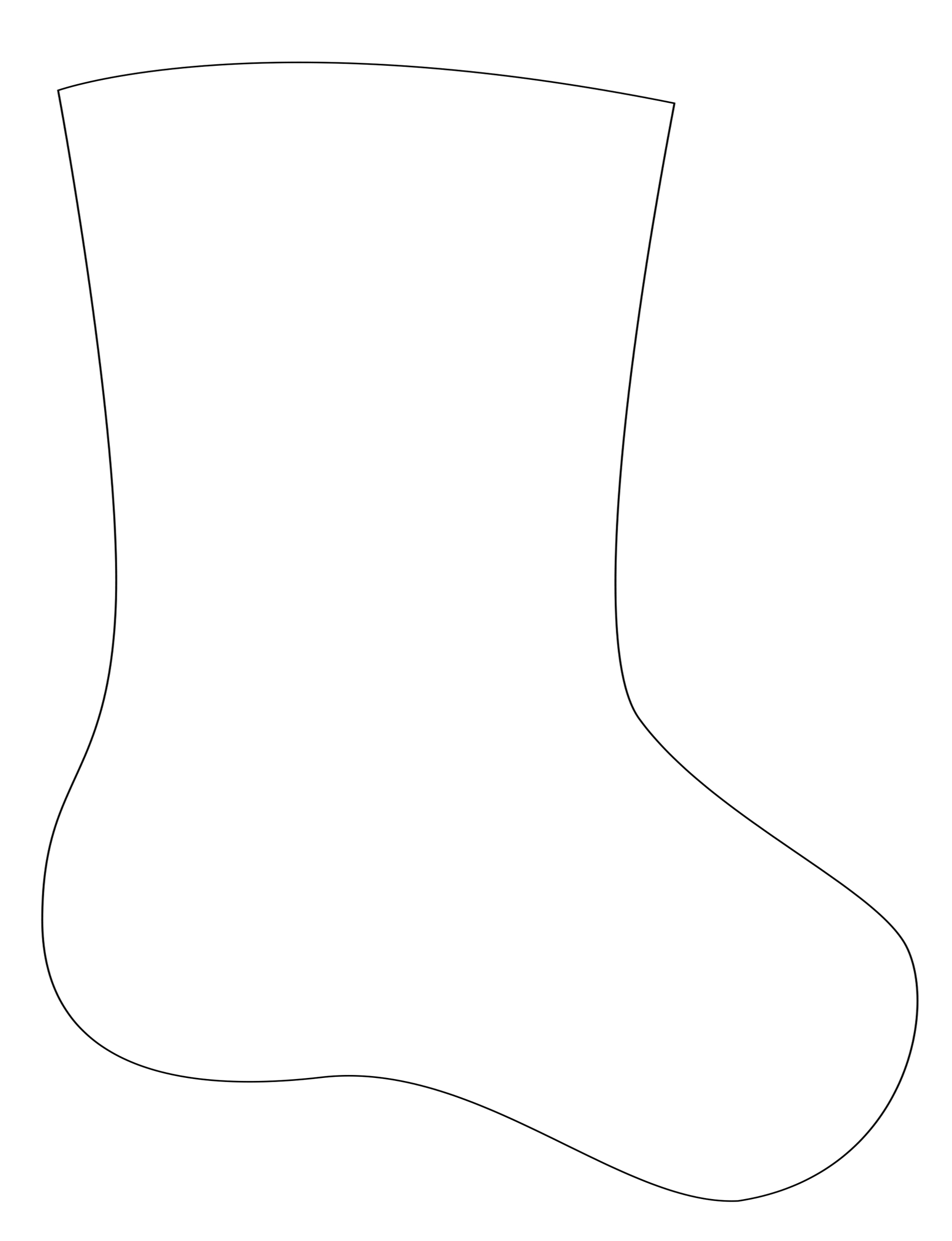 image regarding Stocking Template Printable identified as How in the direction of Deliver a Felt Applique Xmas Stocking
