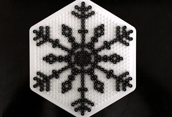 Last Minute Christmas Craft: Bead and Paper Snowflakes
