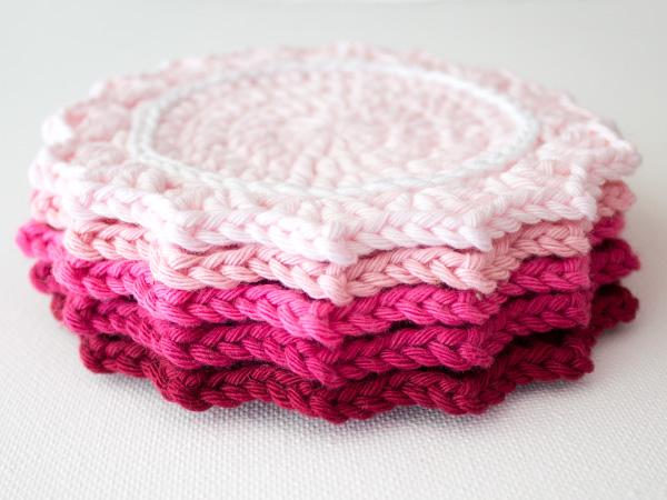 DIY Crochet Ombre Coasters Tutorial