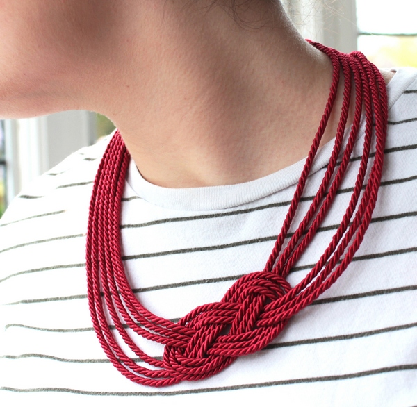 Rope Nautical Knot Necklace Tutorial