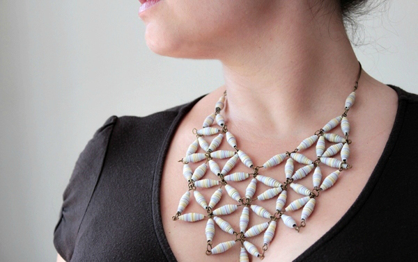 Paper Bead Geo Necklace Tutorial