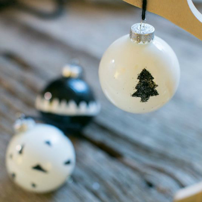 Preview for How to Make Stylish Black and White Glass Christmas Baubles