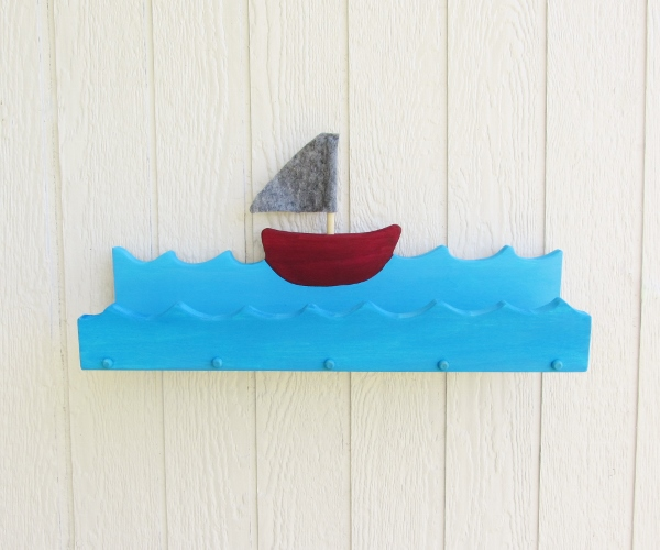 Wooden Boat Shelf Tutorial
