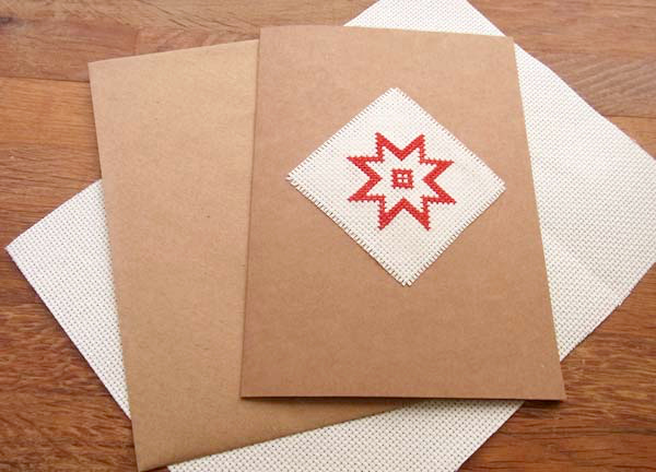 How to Make a Quick and Simple Cross-Stitch Christmas Card