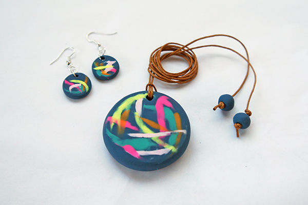 Polymer Clay Pendant and Earrings Tutorial