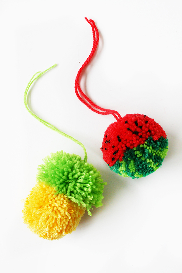 Tutti Frutti PomPoms Tutorial