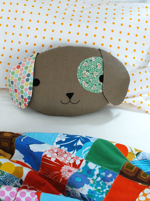 Puppy Pillow Softie Tutorial and Pattern