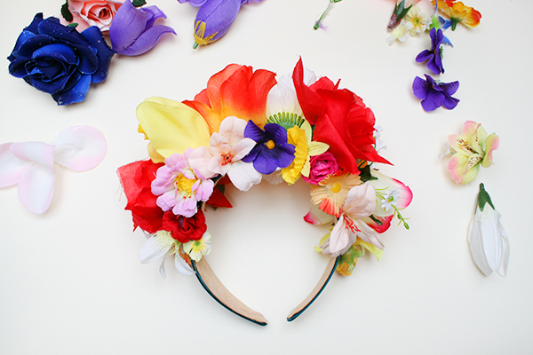 Faux Flower Crown Headband Tutorial