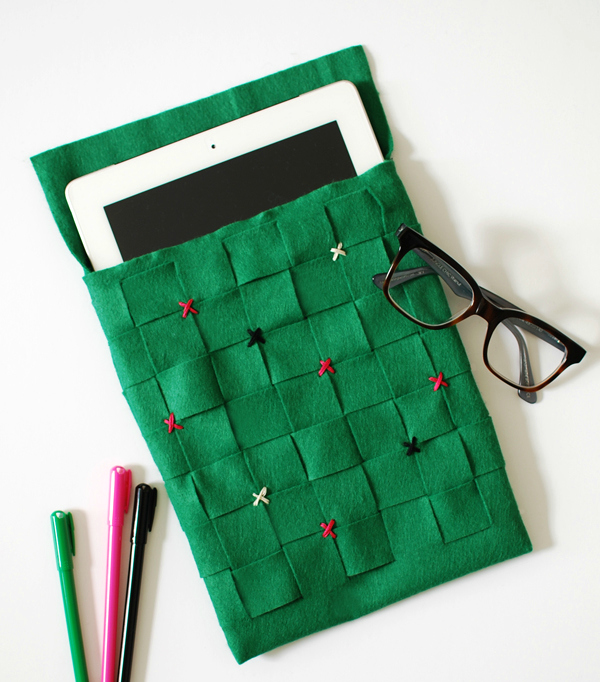 Woven felt iPad sleeve tutorial