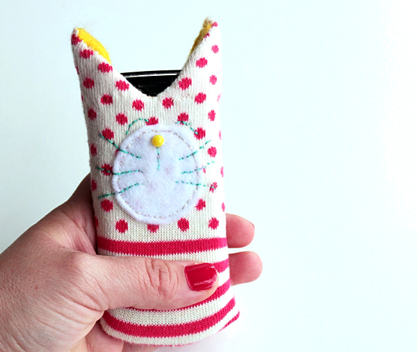 Cat cell phone cozy
