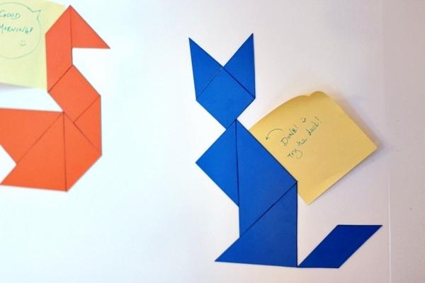 DIY Tangram Fridge Magnets Tutorial
