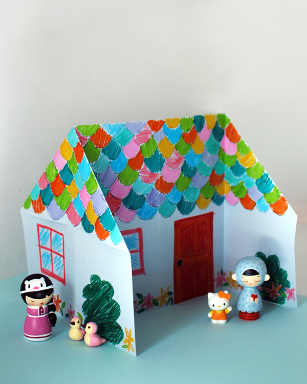 Origami Doll House Tutorial
